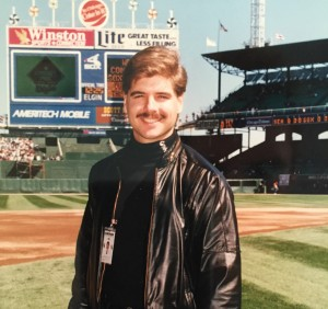 Bucek at Comiskey Park in 1990