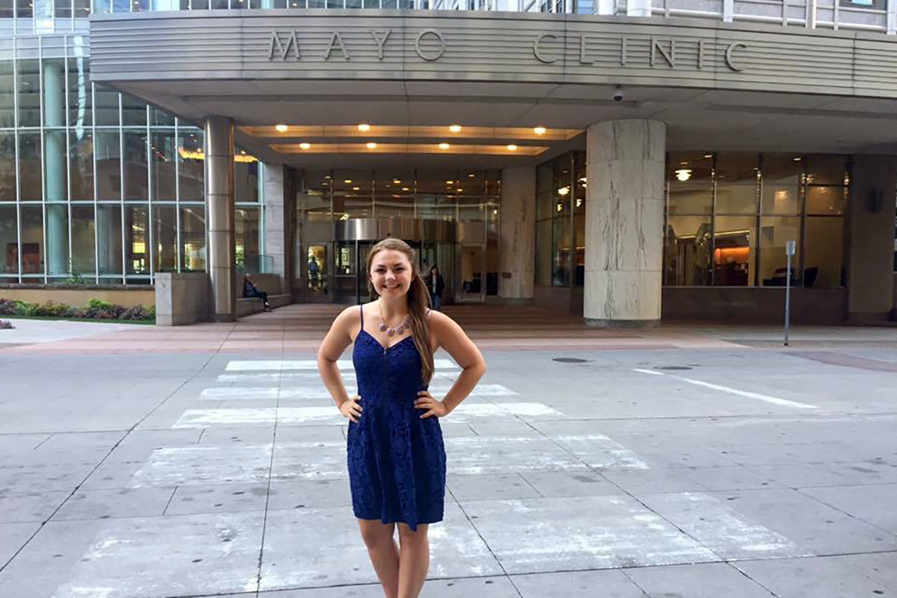 Nursing student's involvement leads to job at Mayo Clinic