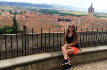 Julia Egan, a junior elementary education major studies in Spain during the summer of 2015.