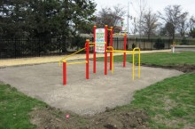 Metcalf's Fitness Trail equipment has been installed.