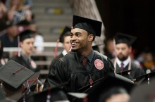 graduate at a recent commencement ceremony