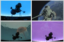 Images projected from the Illinois State University Planetarium new system.