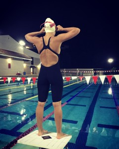 Kerstin Ford looks over pool