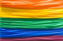 image of gay pride flag