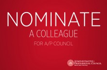 Nominate a colleague for A/P Council