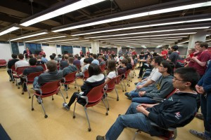 Redbird Hacks students seated in a group