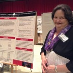 PhD in Nursing student at the research symposium