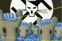Image from the cover of Art Spielgelman's graphic novel, Maus.
