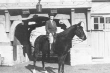 Photo of Hazle Buck Ewing on horseback