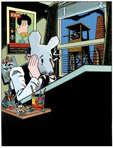 A self-portrait of Art Spiegelman.