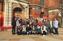 ISU students pose in Pilsen