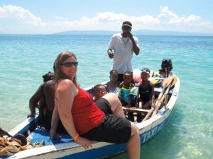 Jamie Schumacher enjoyed a day at Wahoo Bay with orphanage children, who work hard to overcome disabilities.