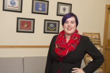 Cassandra Dodge in Veterans Study Center