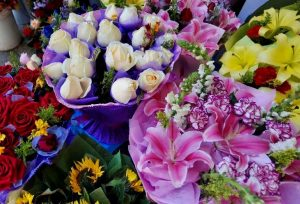 Flower arrangements for sale created by students in Landscapes for Love