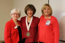 Nurse leaders pose at event