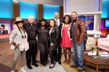Natilie Williams with cast of A Different World and Steve Harvey