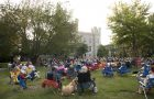 Concertgoers (and pets) enjoy the annual Concerts on the Quad series.
