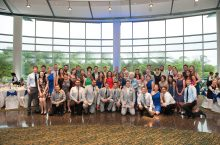 Kathleen (Rose) and Andrew Sampson shared their wedding with 50 Redbirds.