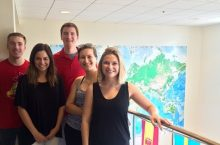 Illinois State's Study Abroad ambassadors pose in Fell Hall