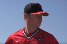 ISU pitcher stands on mound