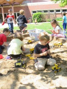 Kids play at Child Care Center