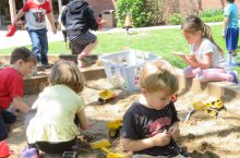 Kids play at Illinois State University's Child Care Center