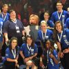 Professor Erik Rankin (far left) took 10 ISU students to the Democratic National Convention.