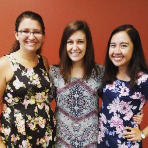 Jen Jaroch '16 (middle) with her former residents, now RAs