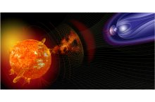 Artist illustration of events on the sun changing the conditions in Near-Earth space. (Photo courtesy of NASA)