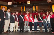 Homecoming court group picture