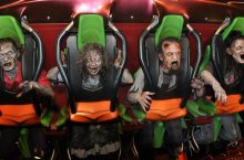 zombies on rollercoaster