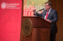 image of Illinois State University President Larry Dietz at the 2016 State of the University.