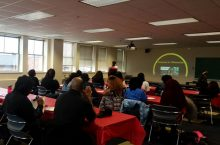 Participants at a Diversity Advocacy Lunch and Learn in the spring