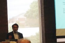 image of Ali Riaz addressing the International Seminar Series in 2016.