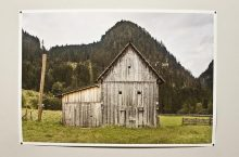 Photo of a barn from the Documenting Rural America exhibition