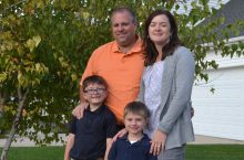 image of the The Huber family
