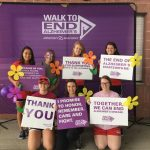 Nursing students participating at the Alzheimer's Walk