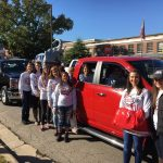 Nursing students partcipating in the Homecoming Parade