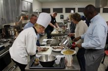 Students cook in the Foods Lab