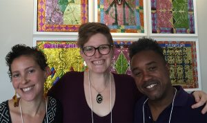 image of . Dasha Chapman and Mario LaMothe, at the Caribbean Studies Association conference in Port-au-Prince