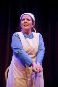 "Marianne Savell in ""The Amish Project."""