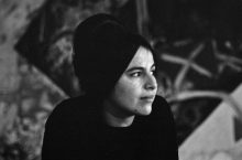 Image from the Eva Hesse documentary of the artist.