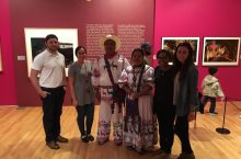 Illinois State preservice teachers alongside Nayarita folkloric performers. Left to right: Joseph Cardinal, Bianca Baez, Jasmine Grullon, and Elizabeth Carroll.