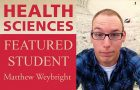 Weybright featured student for Health Sciences article thumbnail