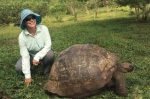 Dianne Ashby with turtle