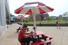 Solar Panel Picnic Table
