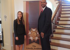 Lauren Koszyk and John Davenport at the Lincoln Academy of Illinois awards.