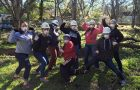 Participants complete service projects on an Alternative Breaks trip