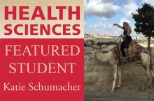 Health Sciences Featured Student Katie Schumacher on a horse