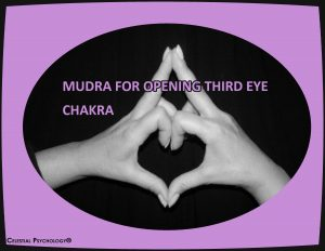 Mudra for opening third eye chakra
